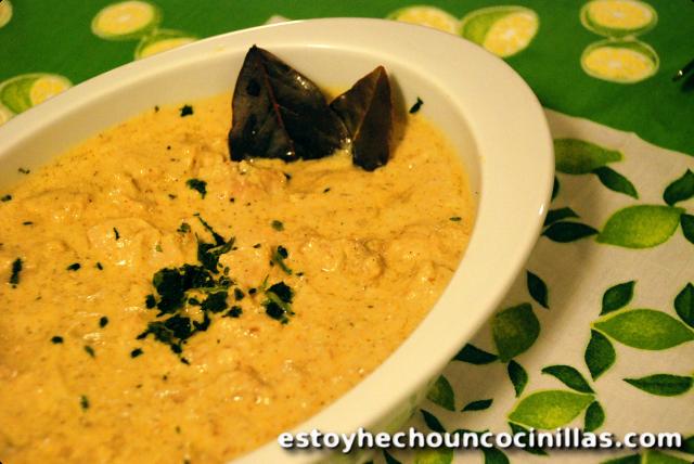 Poulet korma (cuisinne indienne)