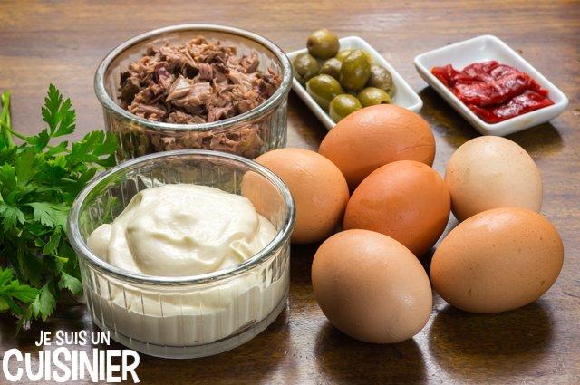 Œufs farcis au thon (ingrédients)