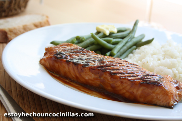 saumon grillé à la sauce barbecue