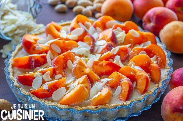 Tarte amandine aux abricots (garniture)