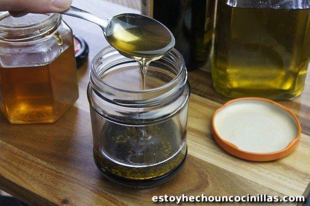 vinaigrette au miel et vinaigre balsamique