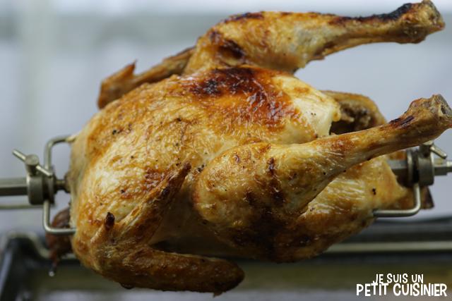 poulet roti à la broche