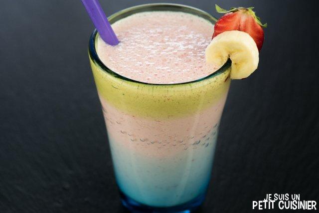 Recette de smoothie yaourt banane et fraises