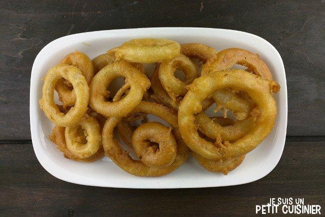 Beignets d'oignon à la bière (beer onion rings)