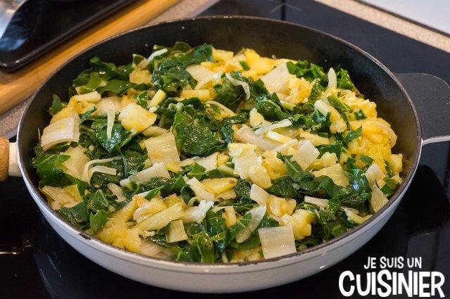 Poêlée de blettes et pommes de terre (blettes cuites)