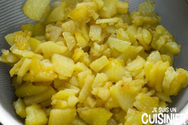 Poêlée de blettes et pommes de terre (égoutter)