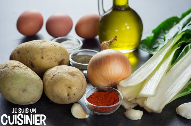 Poêlée de blettes et pommes de terre (ingrédients)