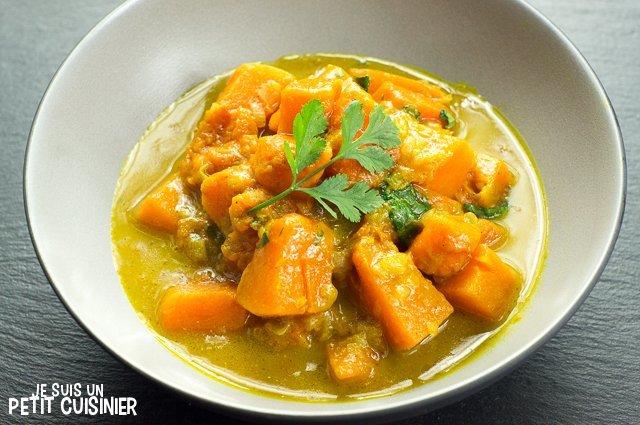 Curry de courge au lait de coco