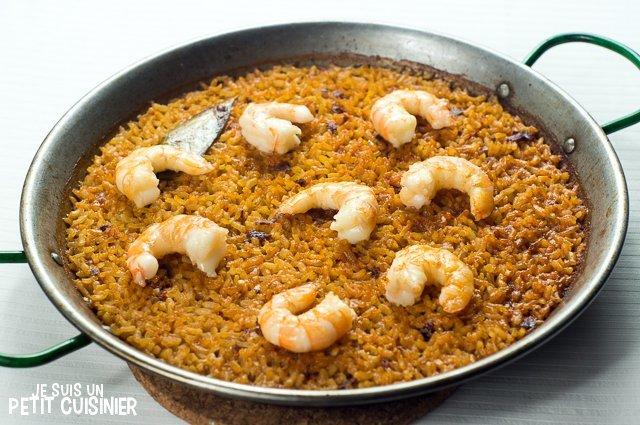 Paella aux crevettes