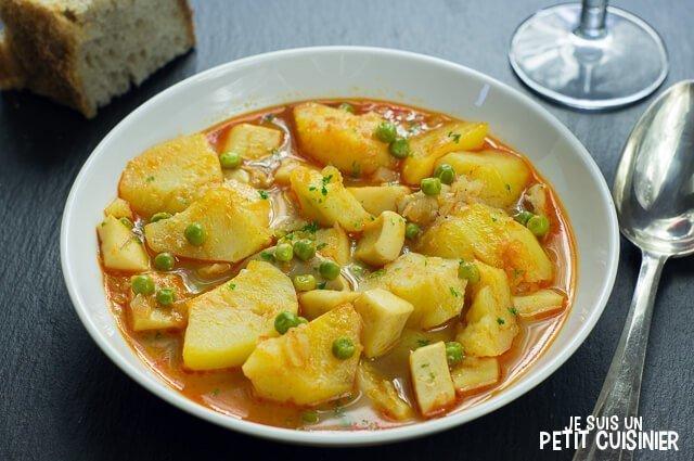 Ragoût de pommes de terre à la seiche