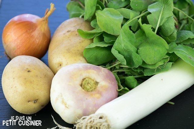 Soupe de fanes de radis (ingrédients)