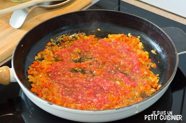 Aiguillettes de poulet au chorizo (tomate)