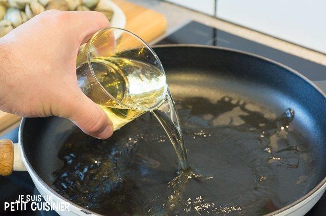 Coques à la vapeur (vin blanc)