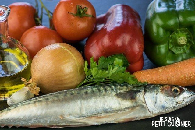 Maquereau sauce tomate (ingrédients)