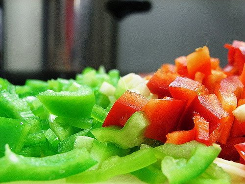 Poivrons coupés (flickr.com)