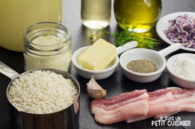 Risotto aux lardons (ingrédients)