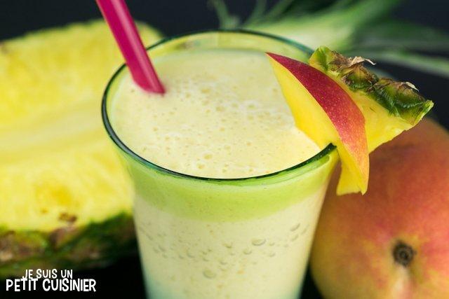 Smoothie mangue ananas
