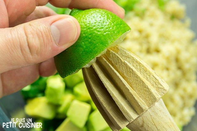 Taboulé de quinoa à l'avocat (citron vert)