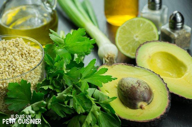 Taboulé de quinoa à l'avocat (ingrédients)