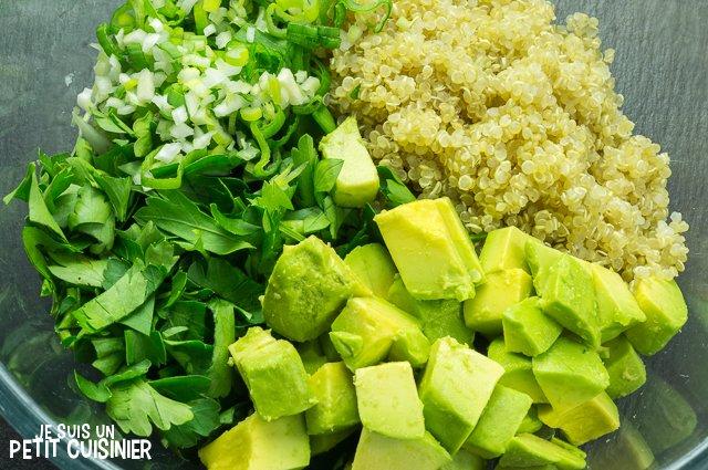 Taboulé de quinoa à l'avocat (saladier)