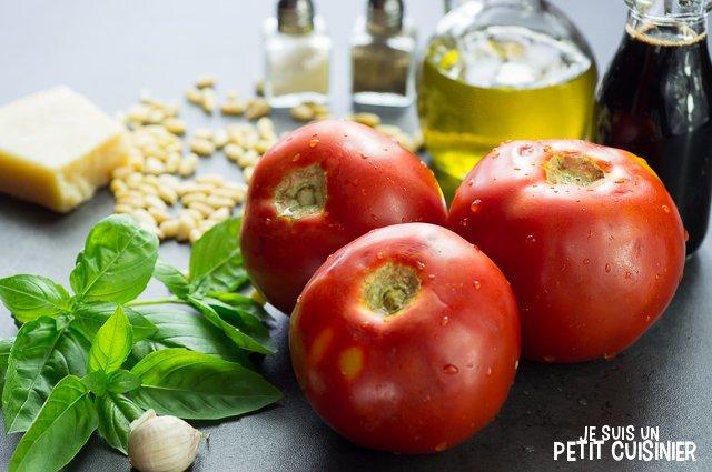 tartare de tomates au pesto de basilic (ingrédients)
