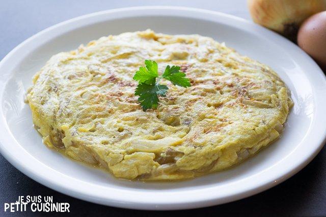 Omelette à l'oignon doux