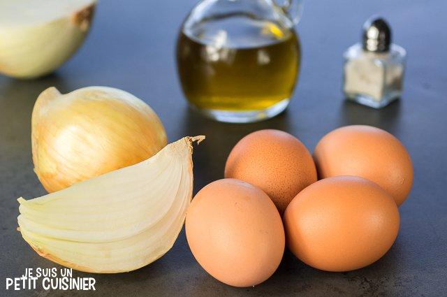 Omelette à l'oignon doux (ingrédients)