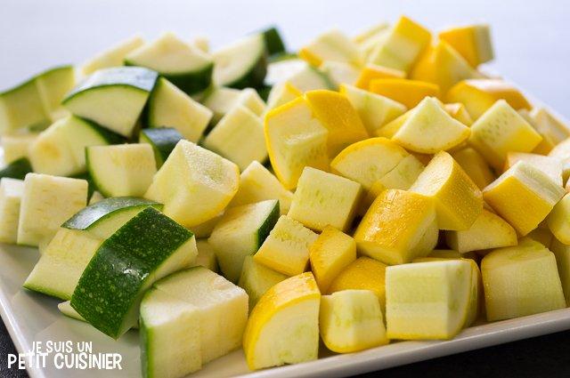 Padella di zucchine alle erbe di Provenza (taglio)