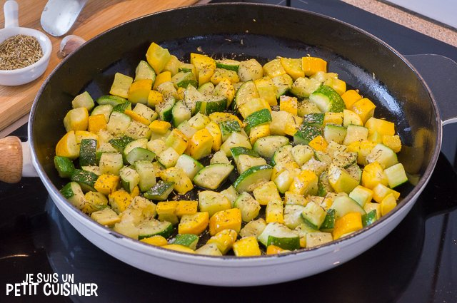 Zucchine Stir-Fry with Herbs de Provence (Spice)