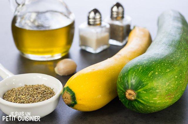 Poêlée de courgettes aux herbes de Provence (ingrédients)