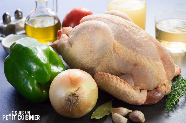 poulet en sauce (ingrédients)