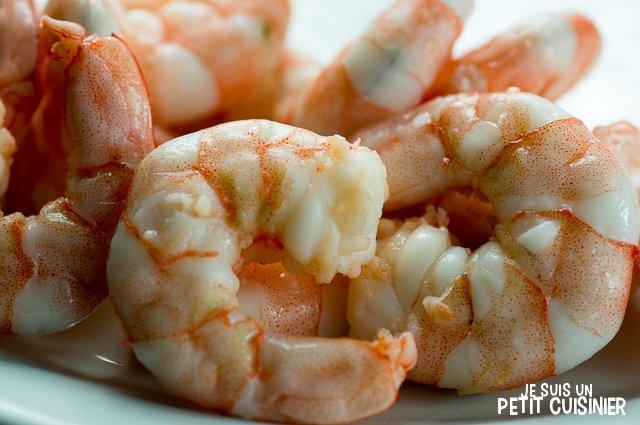 Cocktail de poisson et fruits de mer (crevettes)