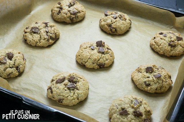 Cookies aux pépites de chocolat et flocons d'avoine (repos)