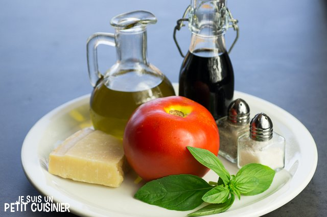 Carpaccio de tomates (ingrédients)