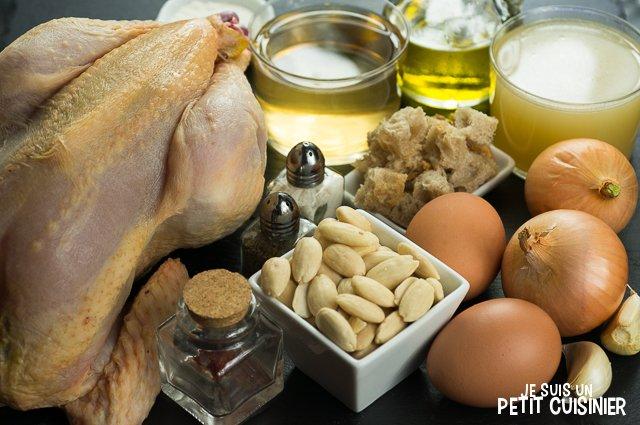 Poulet en sauce au safran et amandes (ingrédients)