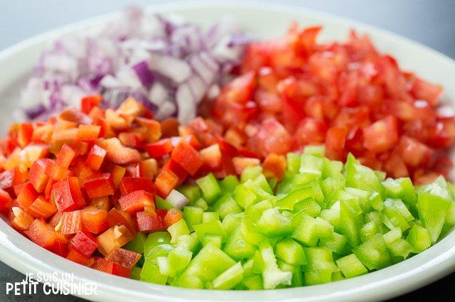 Moules à la vinaigrette (légumes)
