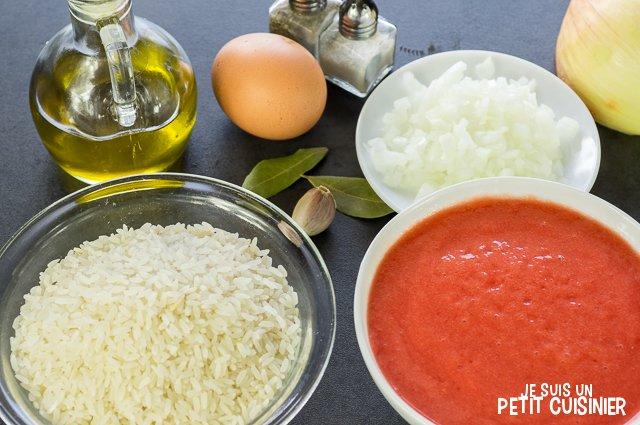 Riz à la sauce tomate (ingrédients)