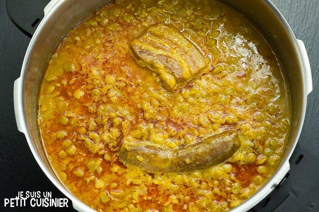Ragoût de pois cassés au chorizo (cosotte)