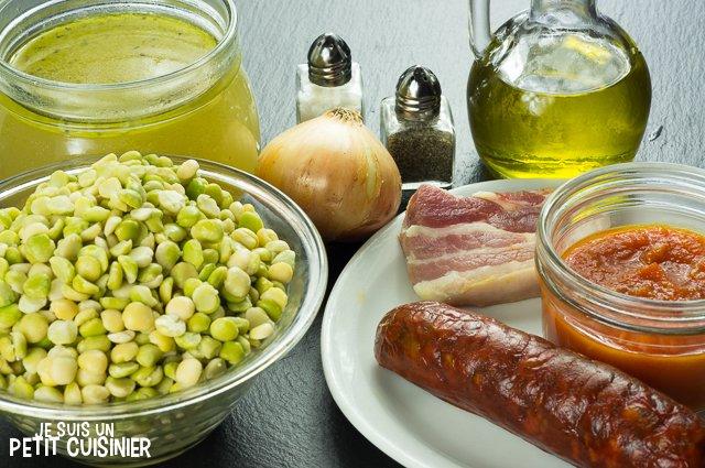 Ragoût de pois cassés au chorizo (ingrédients)