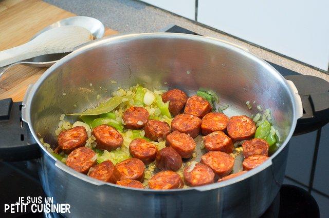 Ragoût de pommes de terre au chorizo (ajouter le chorizo)