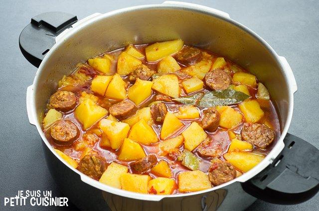 Ragoût de pommes de terre au chorizo