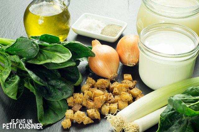 Soupe aux épinards (ingrédients)