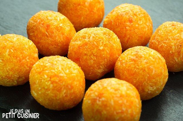 Truffes aux carottes et noix de coco (boules)
