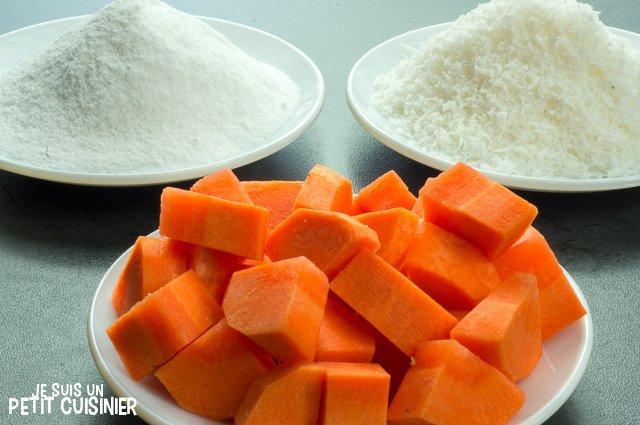 Truffes aux carottes et noix de coco (ingrédients)