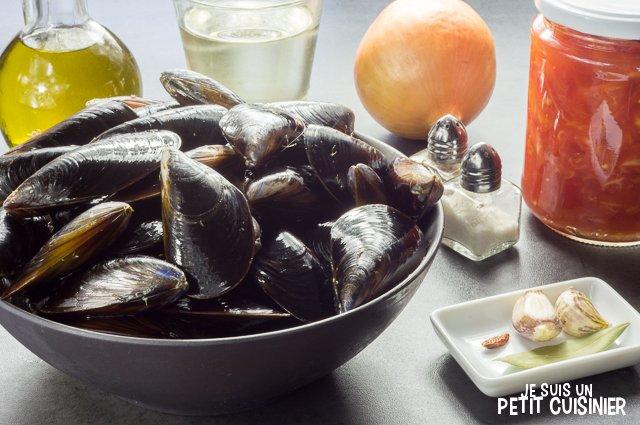 Moules sauce piquante (ingrédients)