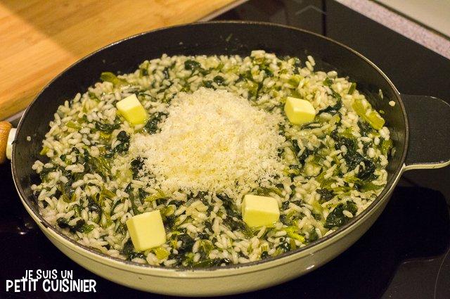 Risotto aux épinards (beurre et parmesan)