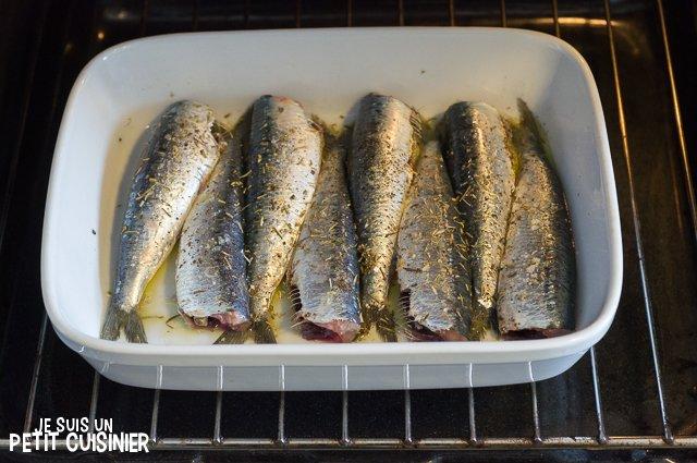 Sardines au four aux herbes de Provence (four)