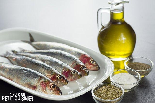 Sardines au four aux herbes de Provence (ingrédients)