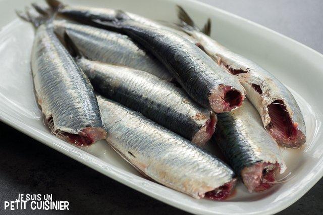 Sardines au four aux herbes de Provence (vider)