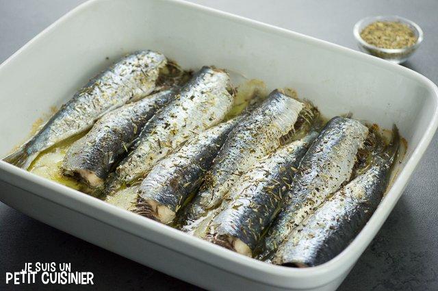 Sardines au four aux herbes de Provence